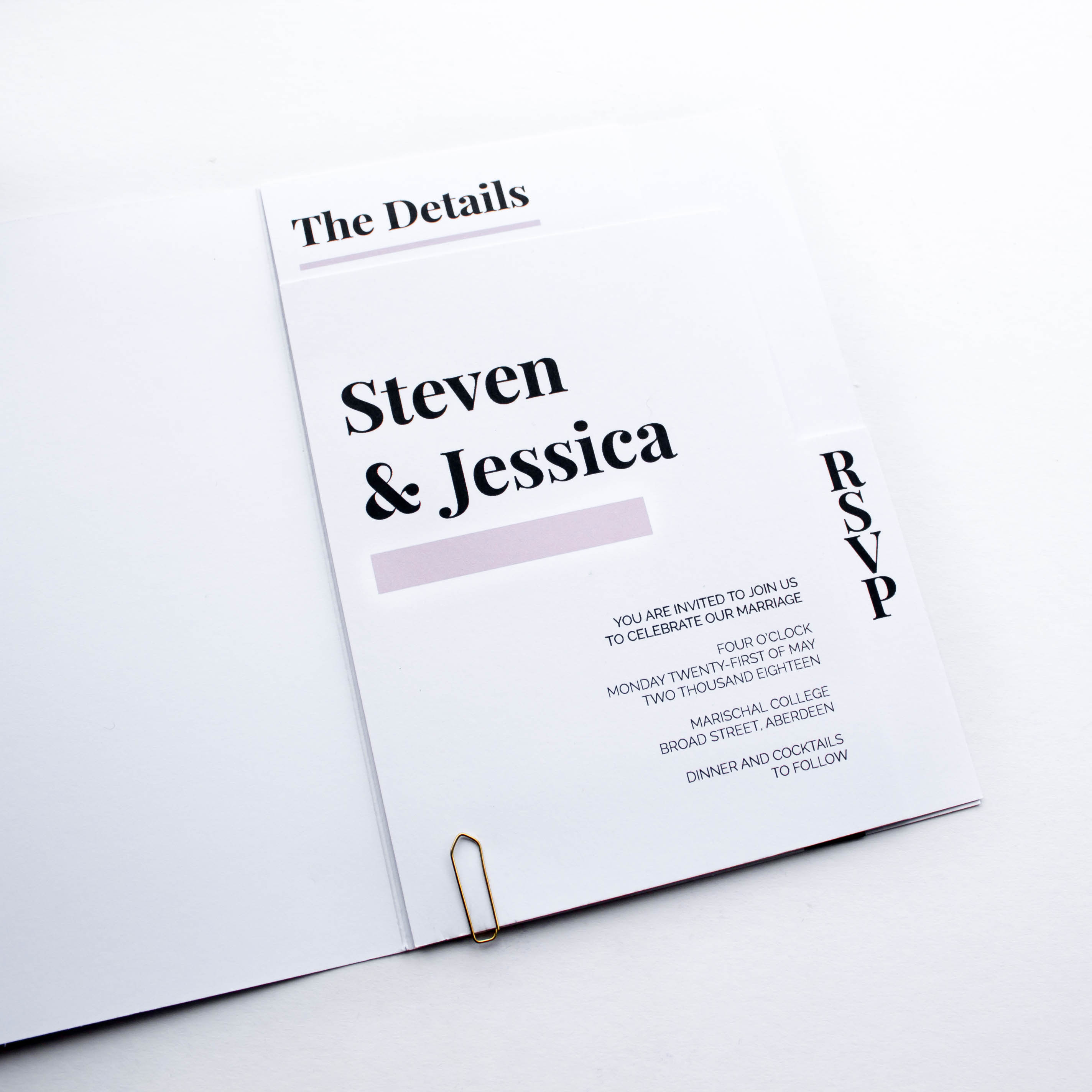 Steven and Jessica - Invitation