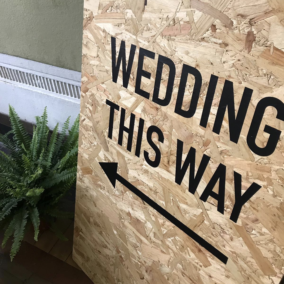 Wedding This Way  - Bespoke Sign